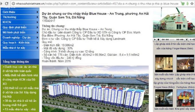 Theo dự kiến Dự án chung cư thu nhập thấp Blue Housse - An Trung 2sẽ được hoàn thành vào năm 2016.