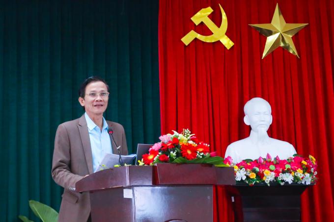 Giám đốc Sở Nội vụ kiêm Phó Trưởng Ban Tổ chức Tỉnh ủy Quảng Nam - ông Nguyễn Hữu Sáng. Ảnh: Sở Nội vụ Quảng Nam.