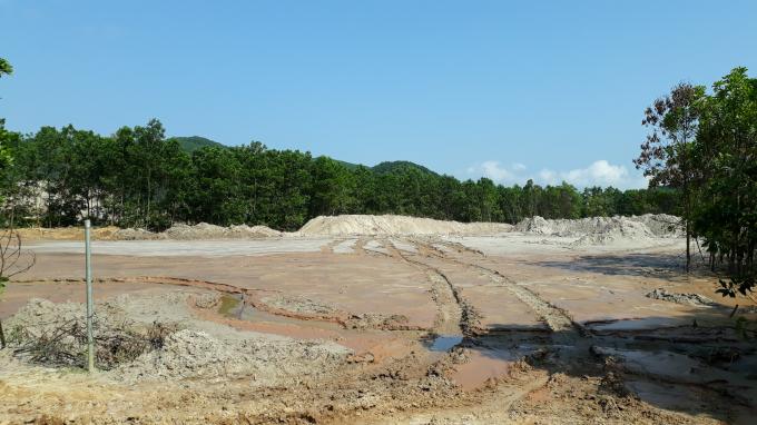Khu vực khai thác vàng và xả thải củaCông ty CP Tập đoàn khoáng sản công nghiệp 6666