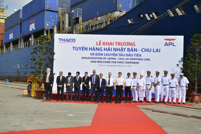 Thaco chính thức khai trương tuyến hàng hải quốc tếNhật Bản - Thaco.