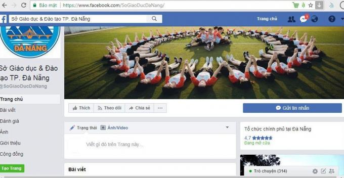 Tài khoản facebook giả mạo Sở GD&ĐT TP Đà Nẵng.