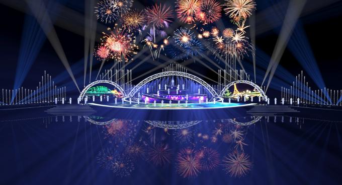 Thiết kế sân khấu DIFF 2018 tại bờ sông Hàn, TP Đà Nẵng.