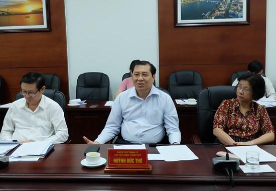 Chủ tịch thành phố Huỳnh Đức Thơ chia sẻ còn 227 dự án tồn đọng trên địa bàn. Ảnh: danang.gov.vn.