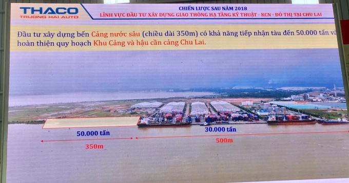 Triển khai đầu tư xây dựng bến cảng nước sâu, đồng thời phối hợp với tỉnh Quảng Nam để nạo vét tuyến luồng có độ sâu đồng bộ để tiếp nhận tàu trọng tải đến 50.000 tấn.