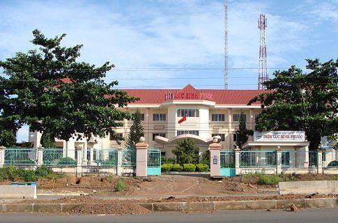 Công ty Điện lực Bình Phước nơi nhiều người bị L. lừa vay tiền trả lãi suất cao.