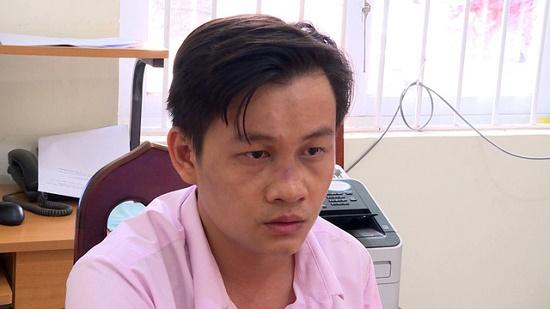 Nguyễn Văn Hiếu tại cơ quan công an - Ảnh: Tuổi trẻ