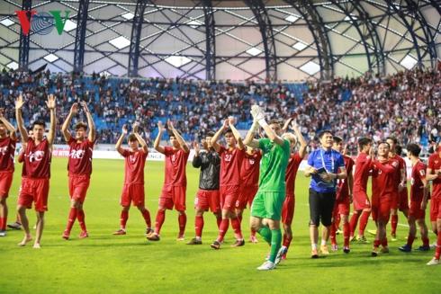 ĐT Việt Nam đánh bại ĐT Jordan với kịch bản hệt như trận U23 Việt Nam vượt qua U23 Iraq đúng ngày 20/1 năm ngoái. (Ảnh: CTV Hai Tép)