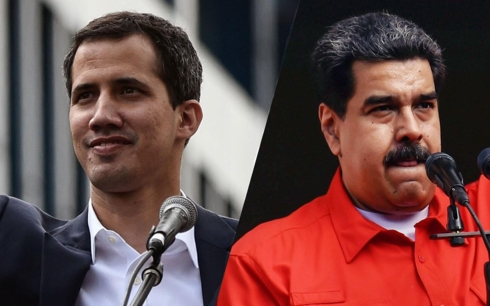 Lãnh đạo đối lập Venzuela Guaido (trái) và Tổng thống Maduro. Ảnh: MSNBC.