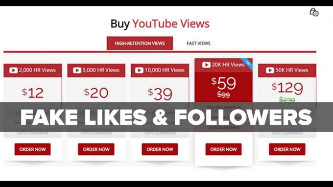 """Một trang web quảng cáo """"thổi"""" view, lượt like và số người theo dõi trên kênh YouTube."""
