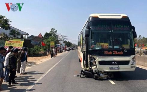Hiện trường vụ tai nạn giao thông khiến 2 người tử vong.