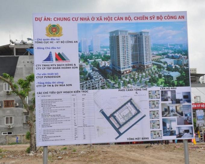 Phối cảnh Dự án chung cư nhà ở xã hội cán bộ, chiến sỹ Bộ Công An tại số 282 Nguyễn Huy Tưởng (Ảnh: TL).