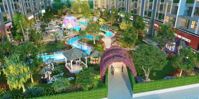 Không gian sống ngập tràn sắc xanh, đầy đủ tiện ích tại Impeira Sky Garden.