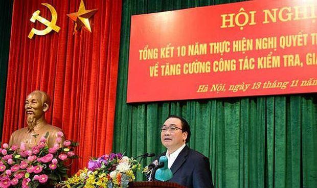Bí thư Thành ủy Hoàng Trung Hải phát biểu kết luận.