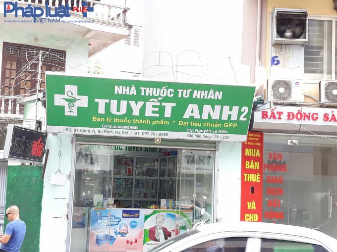 Nhà thuốc có địa chỉ số 81 Cống Vị, Ba Đình.