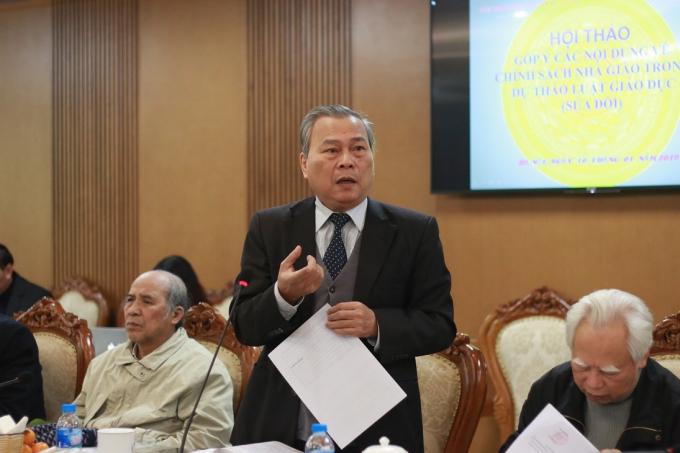 Ông Lê Quán Tần, nguyên Vụ trưởng Vụ Giáo dục Trung học (Bộ GD-ĐT).