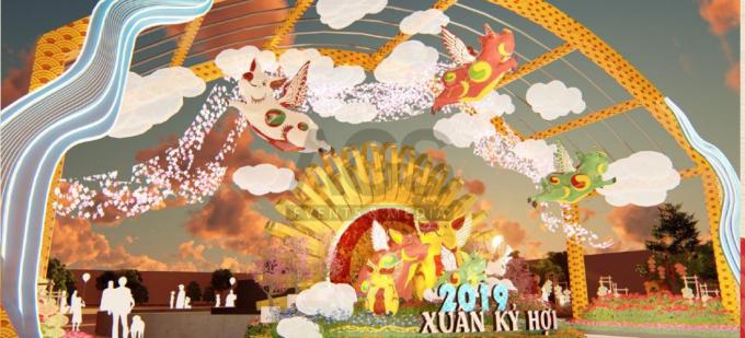 Lễ hội hoa xuân Sun World Halong Complex.