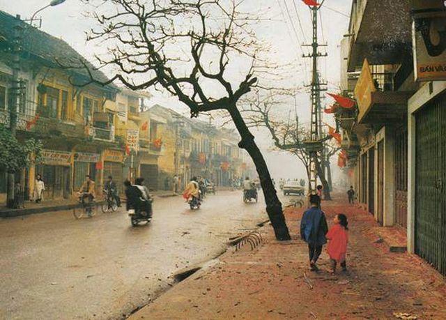 Những con phố vắng bóng người qua lại trong dịp Tết của người Hà Nội (Ảnh tư liệu).
