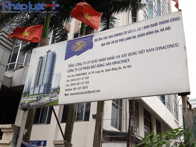 Dự án cải tạo chung cư cũ L1, L2 (khu Nam Thành Công) nằm tại số 93, phố Láng Hạ, quận Đống Đa, thành phố Hà Nội.