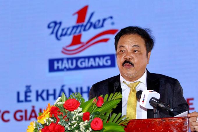 Ông Trần Quí Thanh, Tổng Giám đốc Tập đoàn Tân Hiệp Phát phát biểu tại sự kiện.