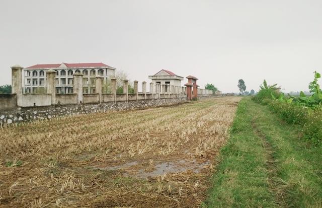 Trường học gần 30 tỷ bỏ hoang giữa cánh đồng