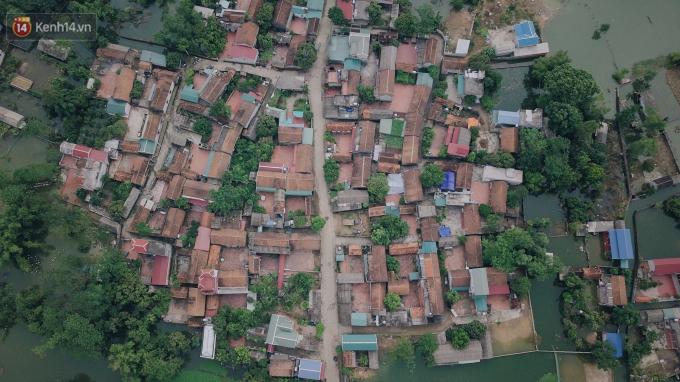 Xã Nam Phương Tiến nhìn từ trên cao, những con đường làng đã lộ rõ hình hài.