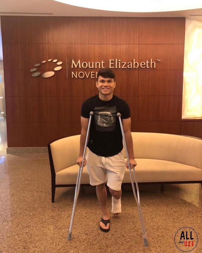 Xuân Mạnh gặp chấn thương không thể tham gia thi đấu cùng tuyển Việt Nam trong mùa giải vừa qua.