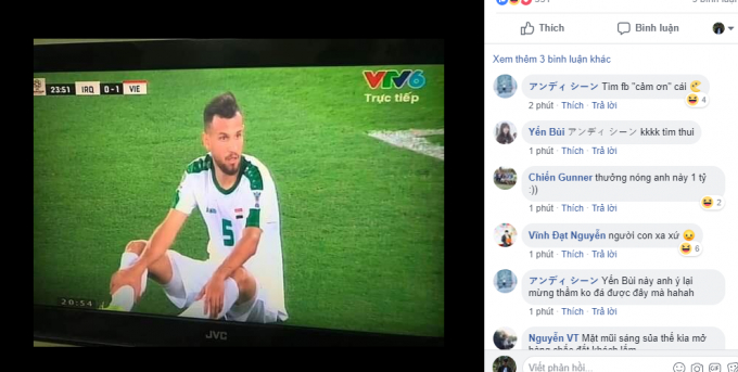 Những bình luận hài hước fan Việt Nam.