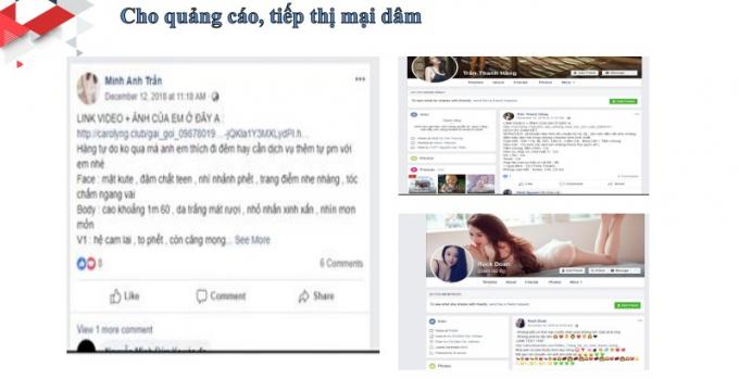 Facebook quảng cáo cho tiếp thị mại dâm ở Việt Nam.(Nguồn: CTV)