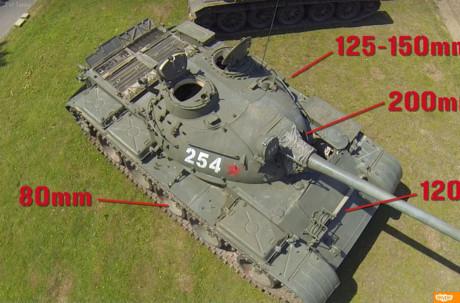 Giáp bảo vệ xe khá tốt với mặt trước thân dày 100mm, trước tháp pháo dày 205mm; hông xe dày 80mm, hông tháp pháo 130mm; đuôi xe dày 60mm, mặt sau tháp pháo dày 60mm; mặt trên thân dày 33-16mm, tháp pháo là 30mm. Nguồn ảnh: Wargaming