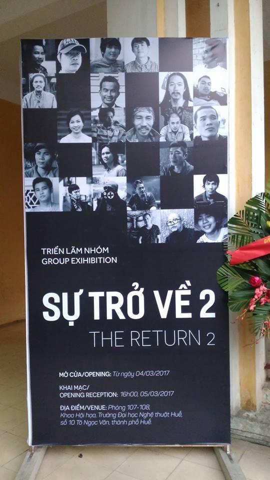"""""""Sự trở về 2"""" do nhóm cựu sinh viên Khoa Hội họa tổ chức."""