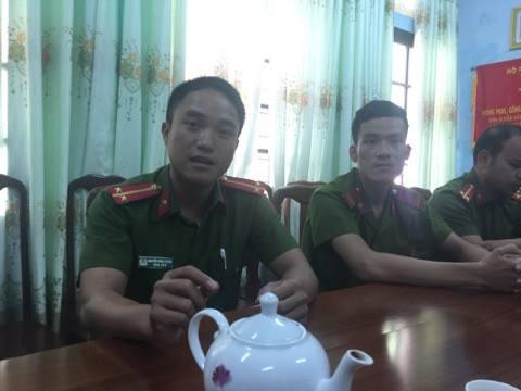 """Trung úy Nguyễn Thành Trung đã không chút đắn đo suy nghĩ đến sự nguy hiểm bản thân mà chỉ nghĩ đến phải làm sao ngăn cản đối tượng trốn thoát""""."""