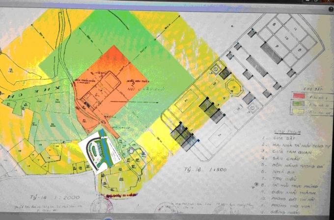Mặt bằng quy hoạch tổng thể khu vực bãi đỗ xe.