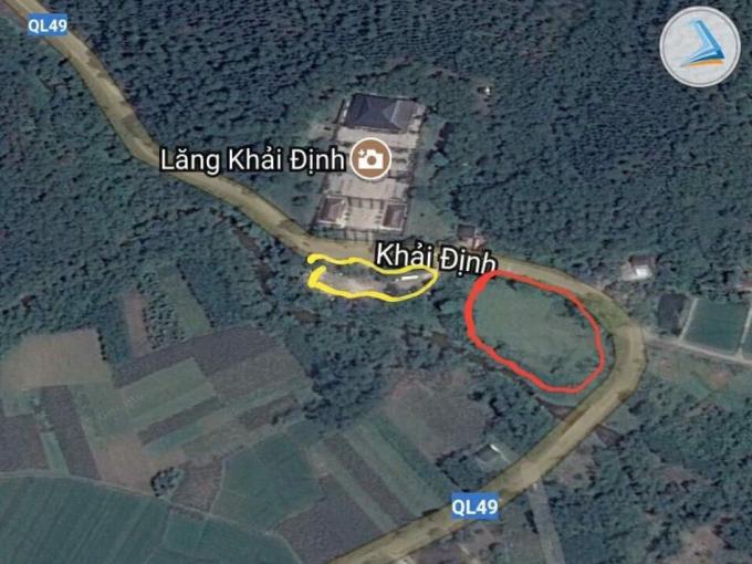 Vị trí khoan màu vàng là bãi đỗ xe cũ, khoanh màu đỏ là dự án bãi xe đỗ mới.