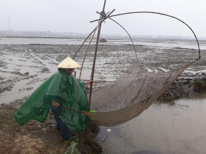Nông dân xã Lộc Bổn (huyện Phú Lộc, tỉnh Thừa Thiên Huế) vất vả ra đồng để kịp vụ mùa (Ảnh: Mỹ Phúc)