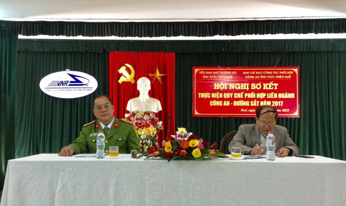 Đại tá Lê Văn Vũ – Phó Giám đốc Công an tỉnh Thừa Thiên Huế tại Hội nghị.