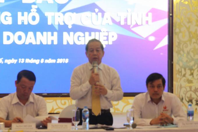 Chủ tịch UBND tỉnh mong rằng với những nổ lực trên của tỉnh sẽ nhận được sự ghi nhận và tham gia tích cực của doanh nghiệp hướng đến chính quyền và doanh nghiệp có tiếng nói chung tiếng nói trong công cuộc phát triển, đưa tỉnh Thừa Thiên Huế ngày càng lớn mạnh và phát triển xứng đáng với tiềm năng.