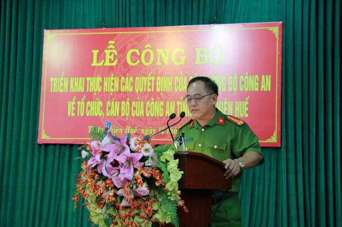 Đai tá Lê Văn Vũ - PGĐ CA tỉnh.