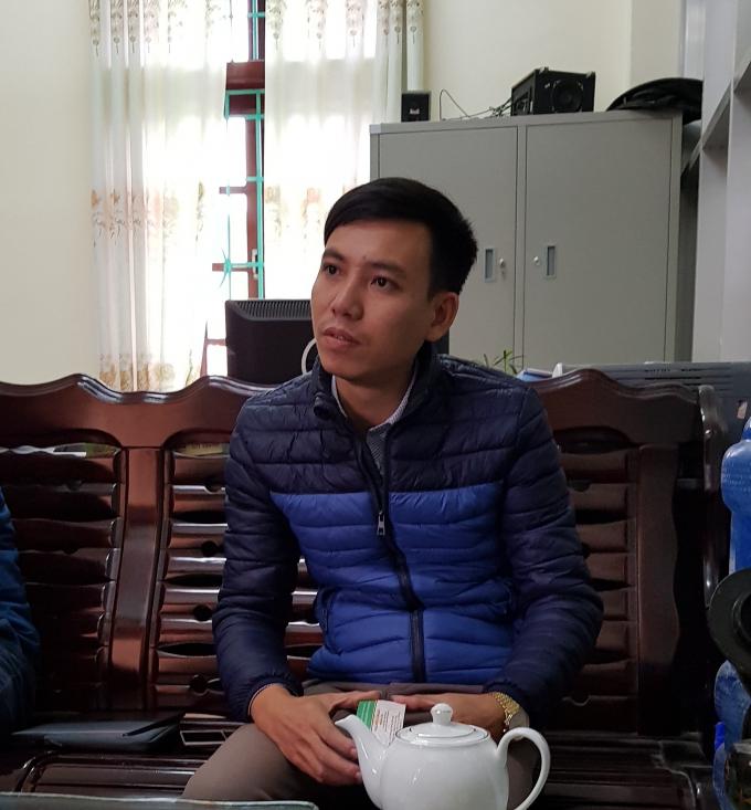 Ông Nguyễn Ngọc Đăng chuyên viên phòng TNMT