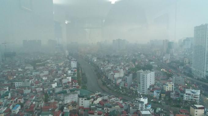 Ô nhiễm không khí ở Hà Nội - ảnh internet