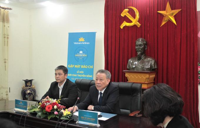 Ông Tô Văn Động - Giám đốc Sở Văn hóa Thể thao Hà Nội phát biểu tại sự kiện