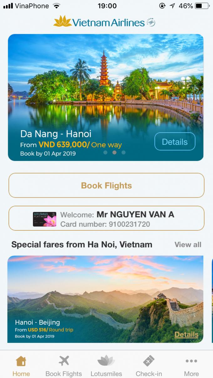 Vietnam Airlines đã tập trung cải thiện các tính năng hỗ trợ tối đa hành trình bay của hành khách.