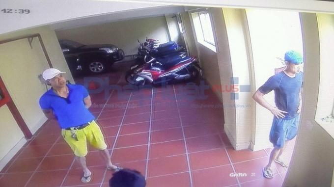 Gương mặt của 2 trong 5 đối tượng được camera an ninh của khách sạn ghi lại.