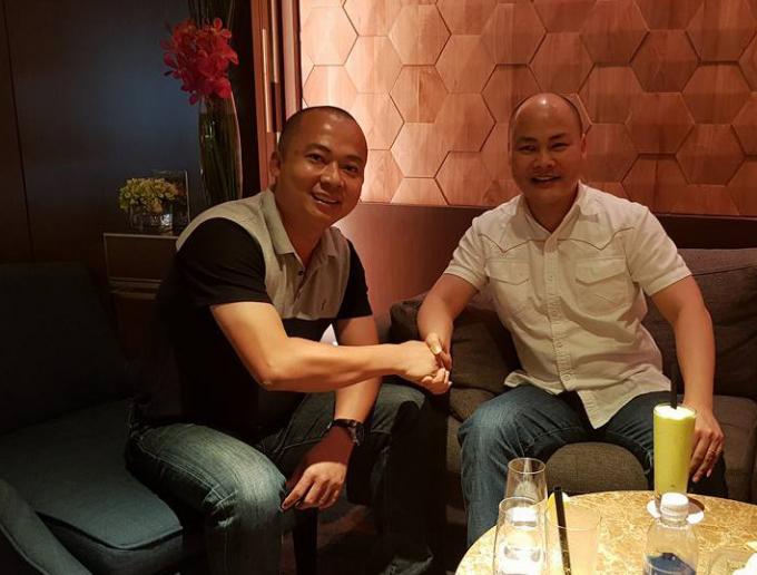 Ông Đoàn Văn Hiểu Em (trái) bắt tay cùng CEO Nguyễn Tử Quảng của BkavẢNH: HIỂU EM