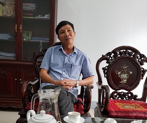 Ông Nguyễn Kim Hải, Trưởng ban tổ chức huyện Ủy huyện Thanh Ba trao đổi với phóng viên Pháp luật Plus.