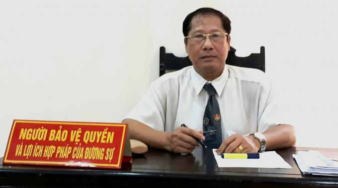 Luật sư Nguyễn Văn Thắng, Trưởng văn phòng luật sư Hải Chi là người bảo vệ quyền và lợi ích hợp pháp cho ông Nguyễn Văn Đỗ.