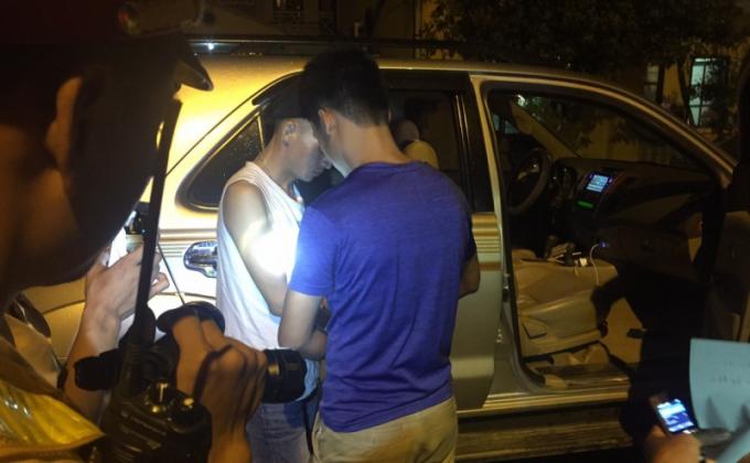 Tổ công tác CSGT Bắc Giang bắt giữ phương tiện và đối tượng tàng trữ chất ma túy.