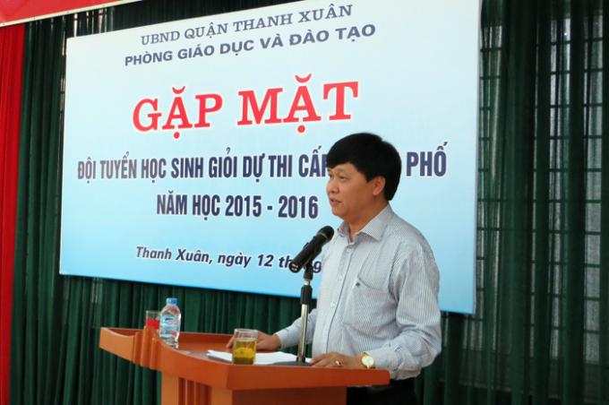 Ông Phạm Gia Hữu -Trưởng phòng GD&ĐT quận Thanh Xuân (Ảnhpgdthanhxuan.edu.vn).