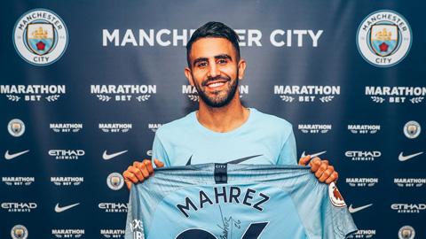 Mancitychiêu mộ Mahrez từ Leicester.
