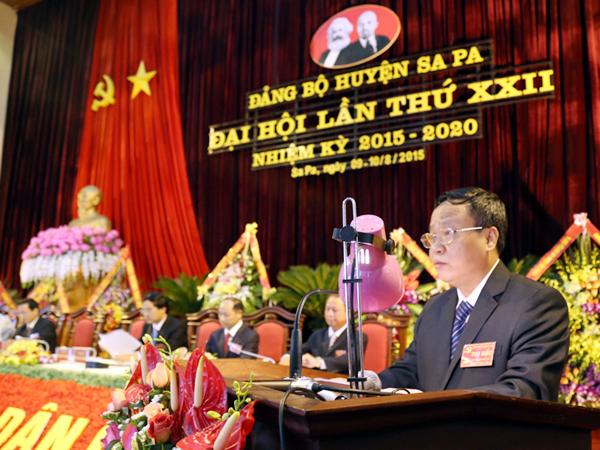 Ông Nguyễn Trọng Hài, Bí thư huyện ủy huyện Sa Pa. (Ảnh Báo Lào Cai).