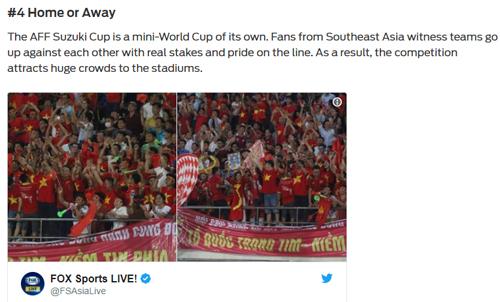 Tờ Fox Sport châu Á không khỏi bất ngờ trước sự cổ vũ lớn lao của CĐV Việt Nam tại SVĐQG Lào.